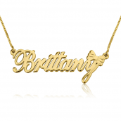 24K Gold Plated Classic Name Necklace with Symbol