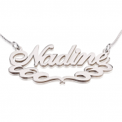 Sterling Silver Name Necklace with Underlining