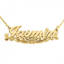 24k Gold Plated Name Necklace with Underlining