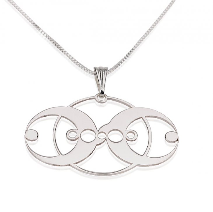 Sterling Silver Crop Circle Necklaces