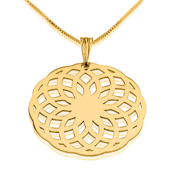 24k Gold Plated Crop Circle Necklaces - Picture 2