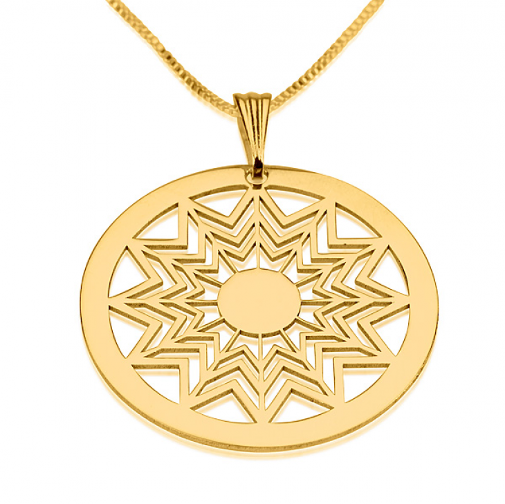 24k Gold Plated Crop Circle Necklaces - Picture 3