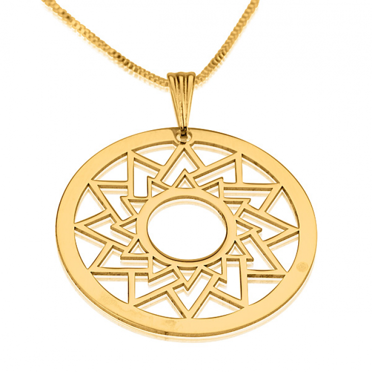 24k Gold Plated Crop Circle Necklaces - Picture 4