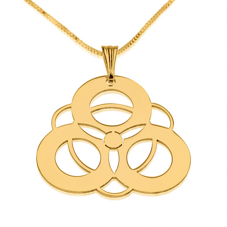 24k Gold Plated Crop Circle Necklaces - Picture 5