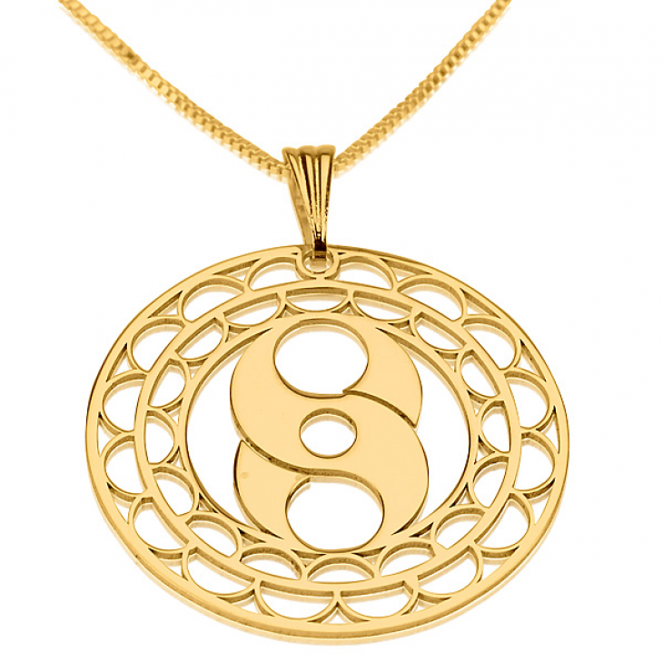 24k Gold Plated Crop Circle Necklaces - Picture 6