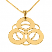24k Gold Plated Crop Circle Necklaces