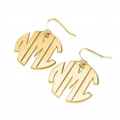 24k Gold Plated Capital Letters Monogram Earrings