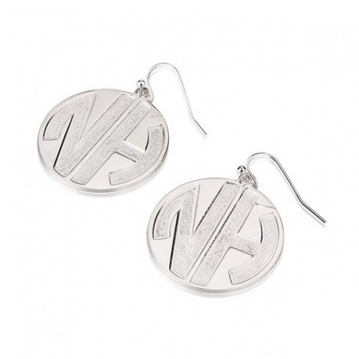 Sterling Silver Sparkling Letters Monogram Earrings