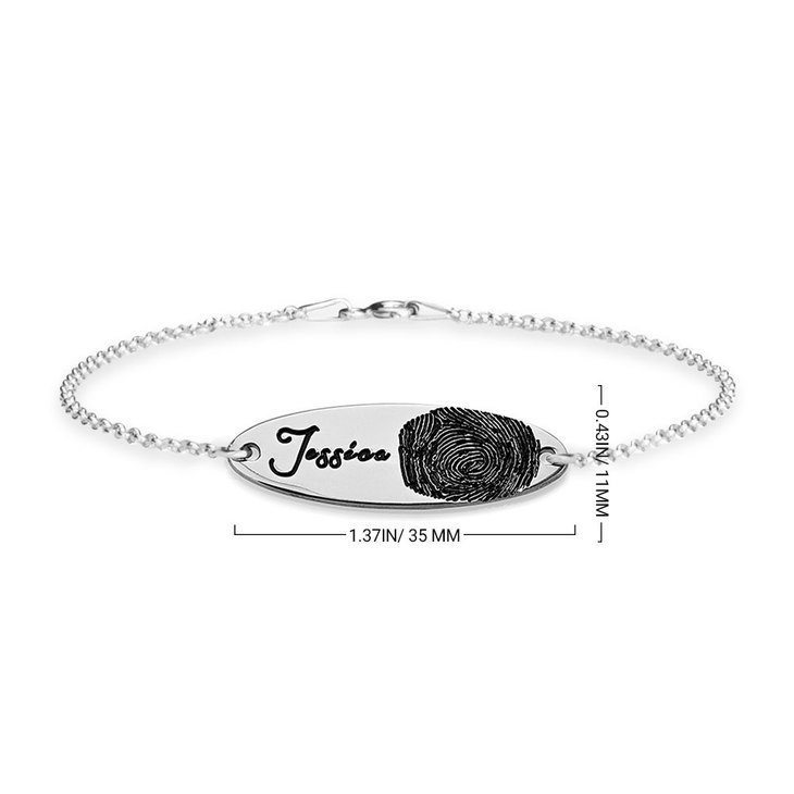 Fingerprint Bar Bracelet - Information