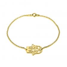 Hamsa Bracelet in Gold Plating
