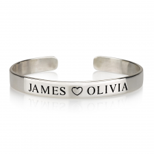 Engraved Names Bangle