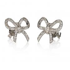 Cubic Zirconia Bow Earrings