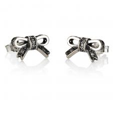 Small Cubic Zirconia Bow Earrings