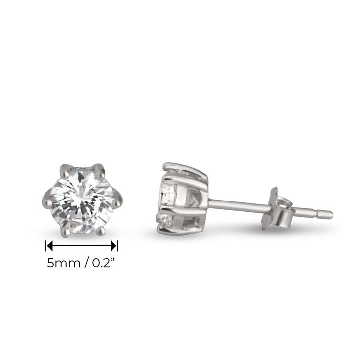 Cubic Zirconia Stud Earrings - Information