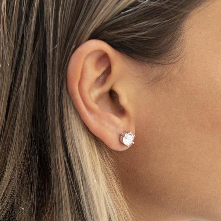 Cubic Zirconia Stud Earrings - Model
