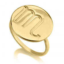 24k Gold Plated Zodiac Ring