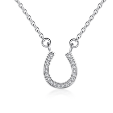Cubic Zirconia Horseshoe Necklace