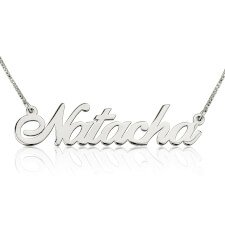 14K White Gold Alegro Name Necklace