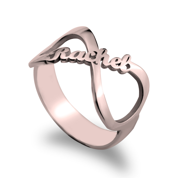 Personalized Infinity Name Ring