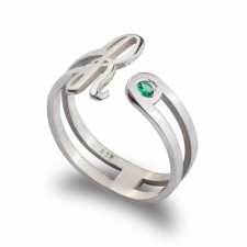 Initial Ring with Birthstone