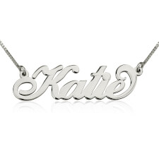 14K White Gold Carrie Name Necklace