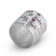 Two - Six Birthstone Ring for Mother