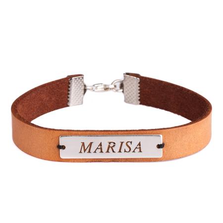 Engraved Name Leather Bracelets