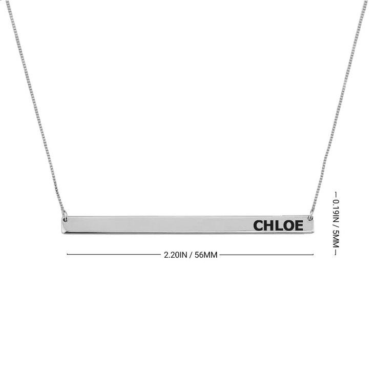 Skinny Bar Necklace - Information