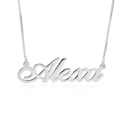 Classy Necklace Sylvia Real Gold Plated Name New