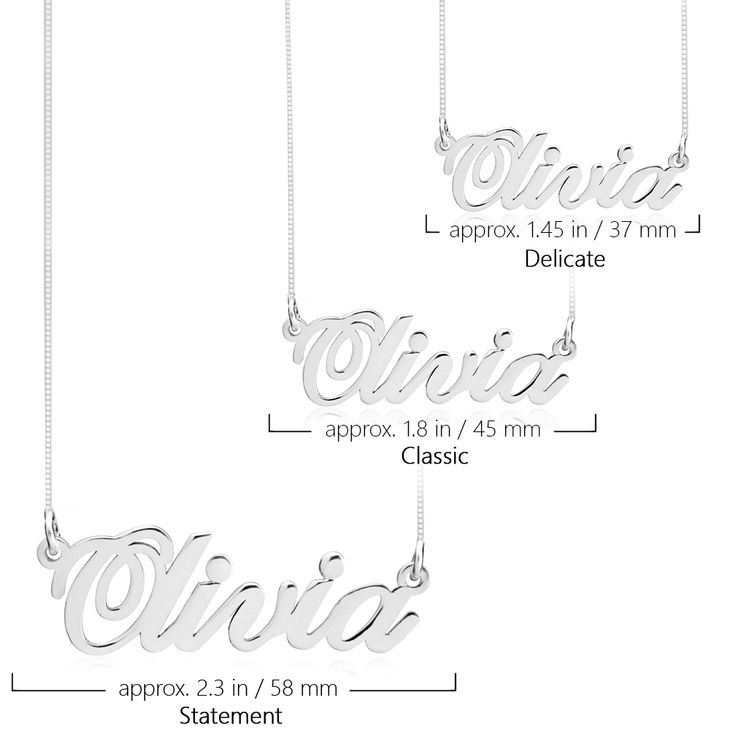 Classic Name Necklace - Information