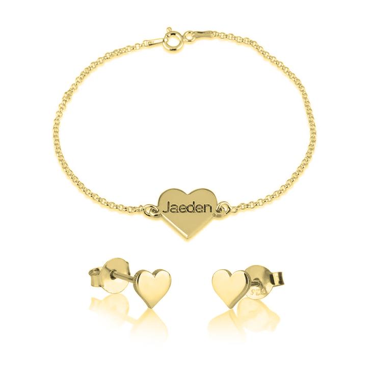 Heart Bracelet & Earring Set