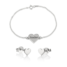Heart Bracelet & Earring Set