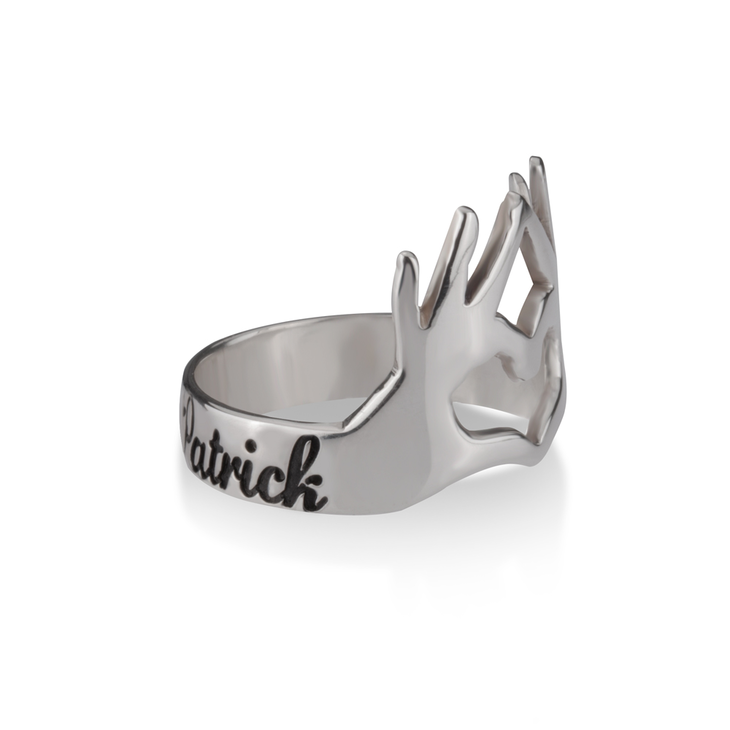 Ring With Hands And Heart - Picture 3