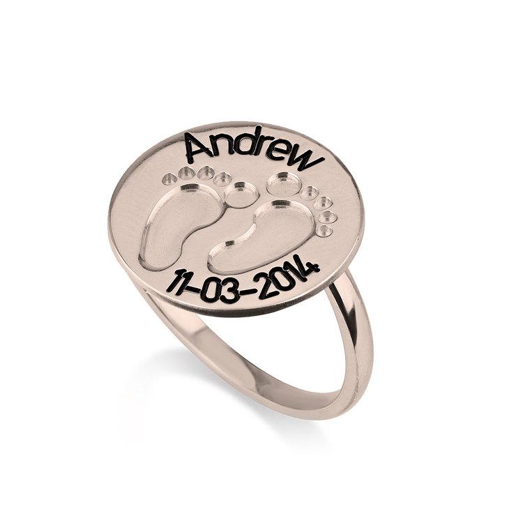 Baby Footprint Ring