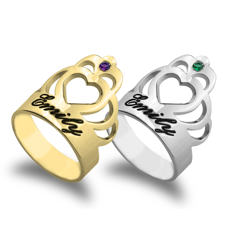 Crown Ring Personalized