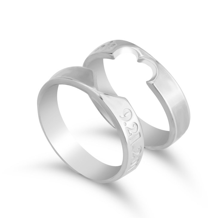 Personalised Heart Cutout Ring Set