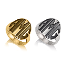 Bold Initials Monogram Ring