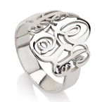 Interlocking Monogram Ring - Thumb