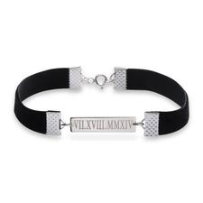 Roman Numeral Date Choker Style Bracelet