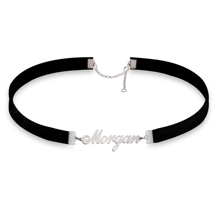 Split Choker with Name Necklace