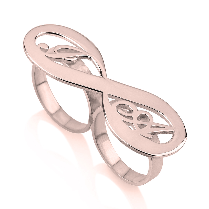 Personalized Infinity Ring with Initials