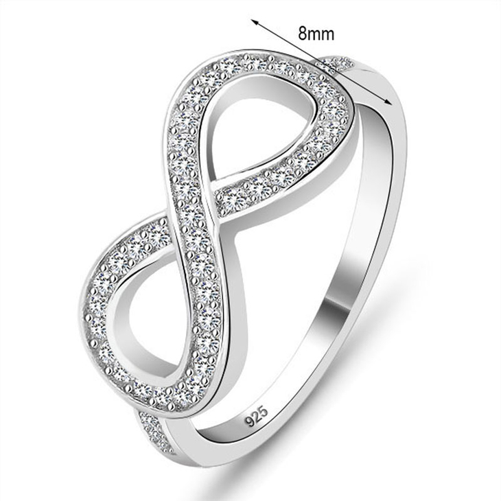 Cubic Zirconia Infinity Ring - Information
