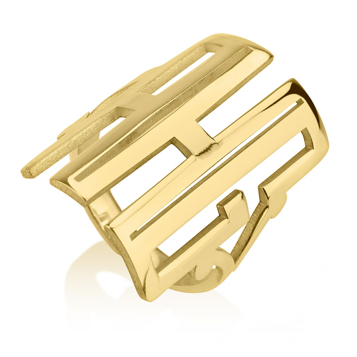 Capital Cut Out Monogram Ring