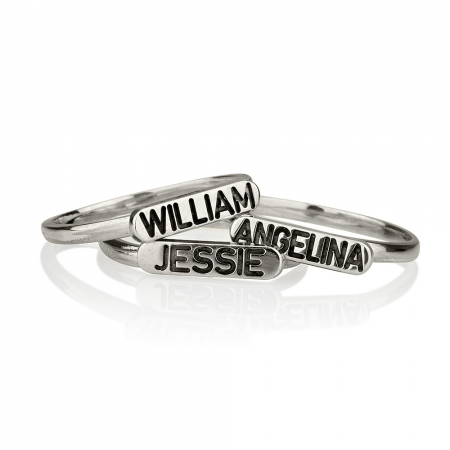 Stackable Ring with Name