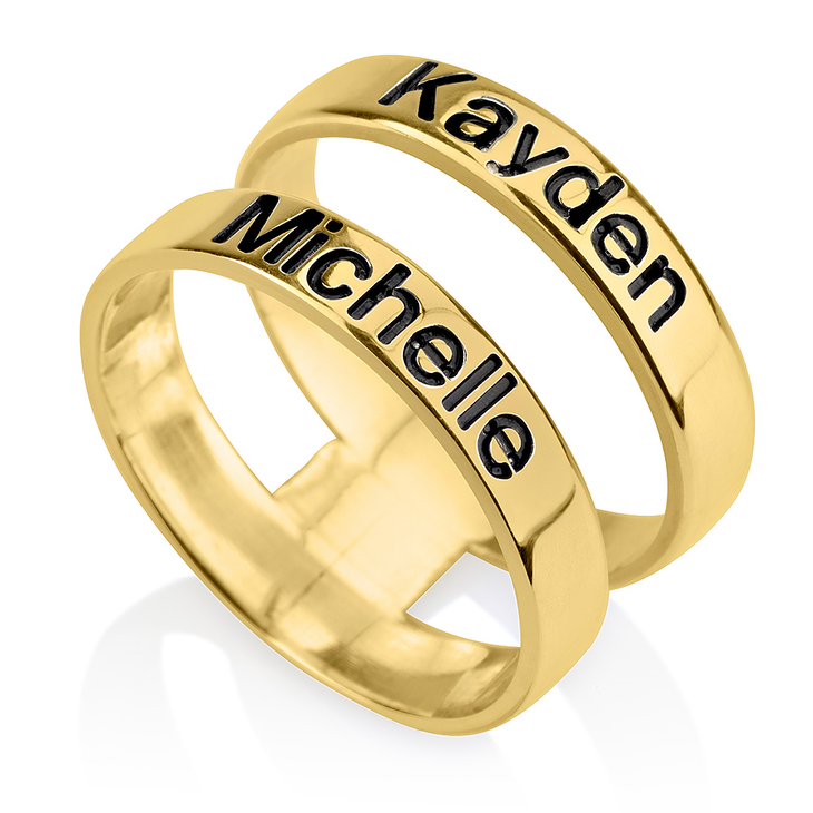 Layered Name Ring