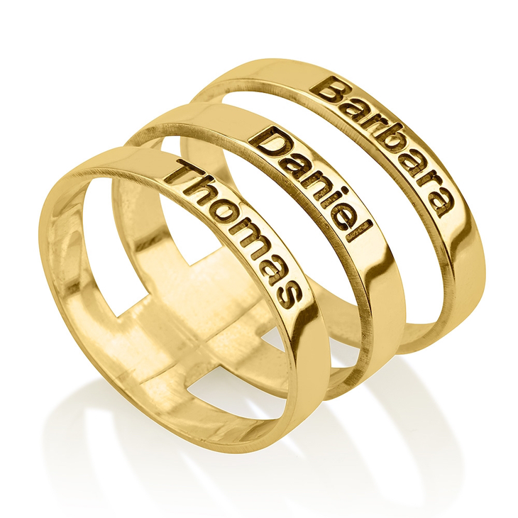 Layered Name Ring - Picture 2