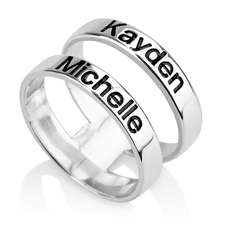 Layered Name Ring