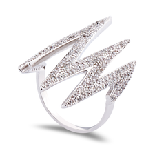 Heartbeat Ring with Zirconia