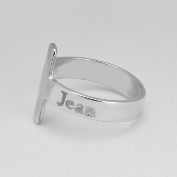 Personalized Cross Ring - Model