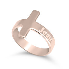 Personalised Cross Ring